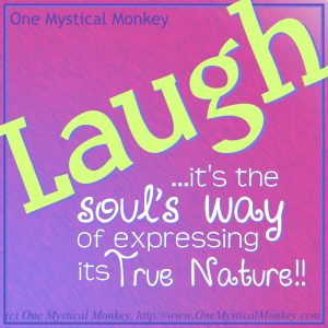 Laugh... One Mystical Monkey / http://www.OneMysticalMonkey.com